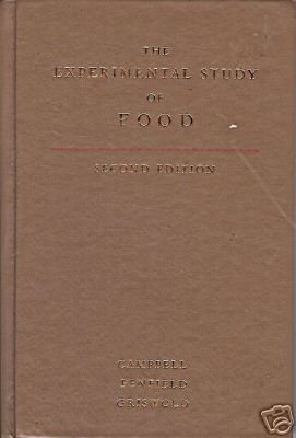 THE EXPERIMENTAL STUDY OF FOOD second edition 1979
