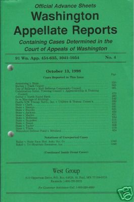 WASHINGTON APPELLATE REPORTS October 13, 1998