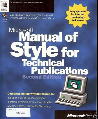 MICROSOFT MANUAL OF STYLE  TECHNICAL PUBLICATIONS 2ND E