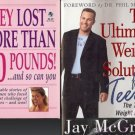 THE ULTIMATE WEIGHT SOLUTION F/TEENS LOT OF 2 BOOKS
