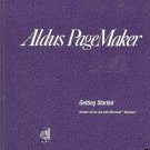 ALDUS PAGEMAKER GETTING STARTED VERSION 4.0 FOR USE MIC
