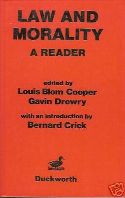 LAW AND MORALITY A READER By Louis Blom-Cooper