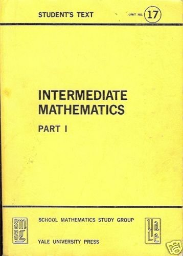 INTERMEDIATE MATHEMATICS PART 1 STUDENT'S TEXT UNIT 17