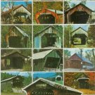 VERMONT COVERED BRIDGES POSTCARD RPPC