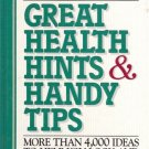 GREAT HEALTH HINTS & HANDY TIPS more than 4000 ideas to