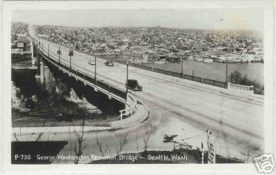 GEORGE WASHINGTON MEMORIAL BRIDGE SEATTLE WASH RPPC