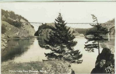 DECEPTION PASS BRIDGE WASHINGTON STATE ELLIS 12 RPPC