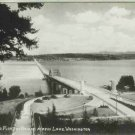 FLOATING BRIDGE ACROSS LAKE WASHINGTON RPPC