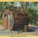 Redwood Highway LOG OUTHOUSE California Logging Postcar