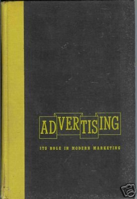 ADVERTISING ITS ROLE IN MODERN MARKETING By S.W. Dunn