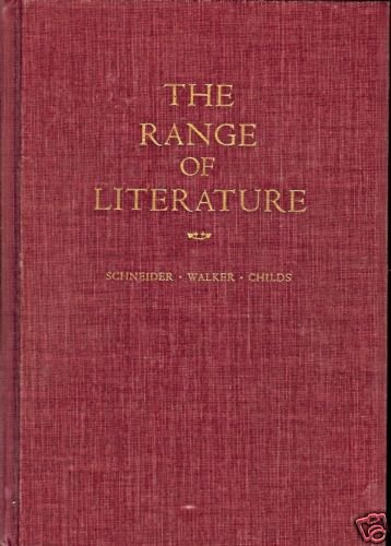 THE RANGE OF LITERATURE INTRODUCTION TO PROSE & VERSE