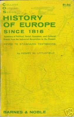 HISTORY OF EUROPE By Henry W. Littlefield