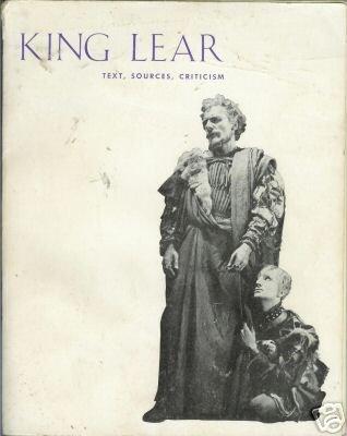 KING LEAR, text, sources, criticism 1962