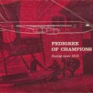 PEDIGREE OF CHAMPIONS 1963 Boeing since 1916