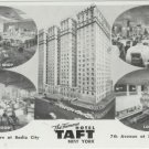 THE FAMOUS HOTEL TAFT NEW YORK Radio City RPPC