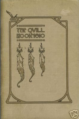 THE QUILL BOOK FOR 1910 Quills Literary Society Spokane