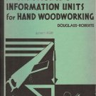 INSTRUCTION AND INFORMATION UNITS FOR HAND WOODWORKING