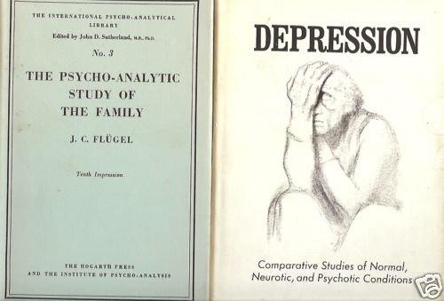 PSYCHO-ANALYTIC STUDY FAMILY DEPRESSION 2 BOOK LOT