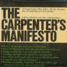 THE CARPENTER'S MANIFESTO 1977 Ehrlich Mannheimer