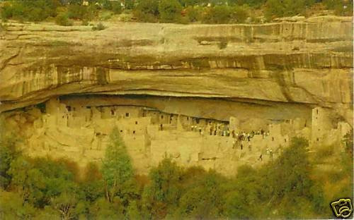 CLIFF POSTCARD Mesa Verde Colorado RPPC Palace Ruin