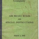 NORTHERN PACIFIC RAILWAY COMPANY AIR BRAKE RULES 1944