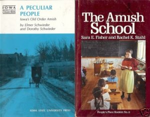A PECULIAR PEOPLE OLD AMISH SCHOOL LOT OF 2 BOOKS