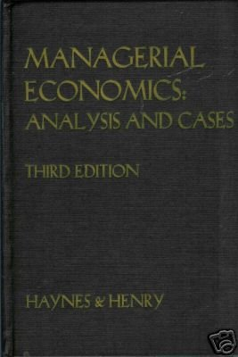 Managerial Economics; Analysis and Cases by W. Warre...