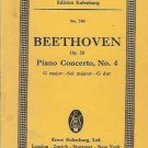BEETHOVEN OP. 58 piano concerto, No. 4 G major-Sol