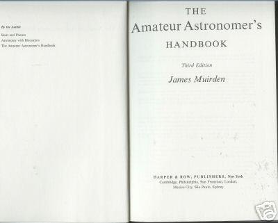 THE AMATEUR ASTRONOMER'S HANDBOOK 1983 MUIRDEN HARDC