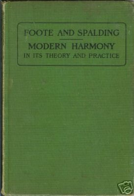 FOOTE AND SPALDING MODERN HARMONY 1936 HC