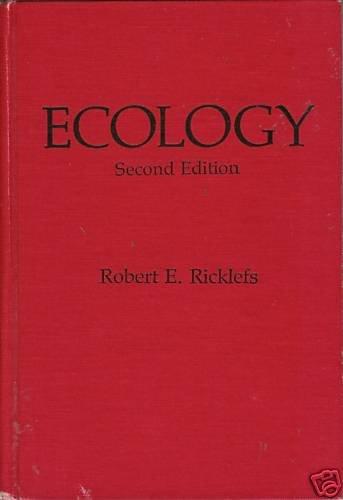 ECOLOGY Second Edition By Robert E. Ricklefs