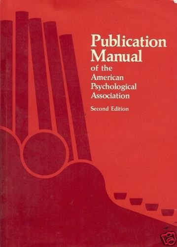 PUBLICATION MANUAL OF THE AMERICAN PSYCHOLOGICAL ASSOCI