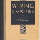 WIRING SIMPLIFIED 1951 22ND EDITION H. P. RICHTER SC