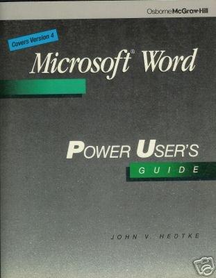 Microsoft Word by John V. Hedtke (1988)