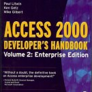 ACCESS 2000 DEVELOPER'S HANDBOOK VOL 2 ENTERPRISE EDITI
