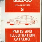 1985-93 NOVA/GEO PRIZM S PARTS AND ILLUSTRATION CATALOG