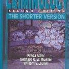 CRIMINOLOGY SECOND EDITION THE SHORTER VERSION Adler 95