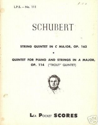 SCHUBERT string quintet in C major OP 163 Piano