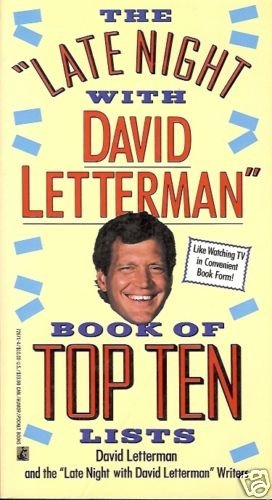 THE LATE NIGHT WITH DAVID LETTERMAN BOOK OF TOP TEN