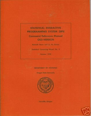 STATISTICAL INTERACTIVE PROGRAMMING SYSTEM 0S3-VERSION