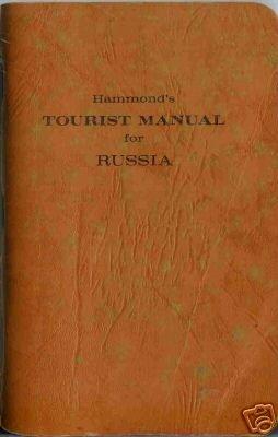 TOURIST MANUAL FOR RUSSIA Hammond's 1961