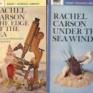 UNDER THE SEA WIND & EDGES OF THE SEA  LOT OF 2 BOOKS
