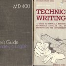WRITER'S GUIDE & TECHNICAL WRITING  LOT OF 2 BOOKS
