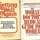 WOMAN DOCTOR'S MEDICAL GETTING WELL AGAIN LOT OF 2 BOOK