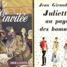 L'INVITEE & JULIETTE AU PAY DES HOMMES LOT OF 2 BOOKS