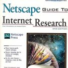 OFFICAL NETSCAPE GUIDE TO INTERNET RESEARCH