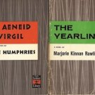 THE AENEID OF VIRGIL & THE YEARLING LOT OF 2 BOOKS