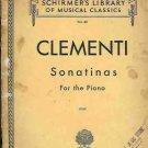 CLEMENTI SONATINAS FOR THE PIANO OP 36, 37 , 38 MUZIO