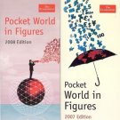 POCKET WORLD IN FIGURES 2007 & 2008 THE ECONOMIST LOT OF 2 BOOKS