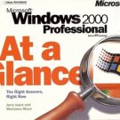 MICROSOFT WINDOWS 2000 PROFESINAL AT A GLANCE BY JOYCE & MOON 2000
